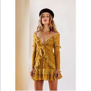 NWT Mustard For Love And Lemons Daphné mini dress